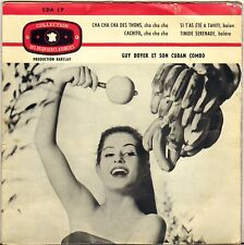 "GUY BOYER & CUBAN COMBO ""CACHITO"" LATIN JAZZ 50'S EP CDA 17"