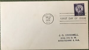 FDC USA Liberty cancel Albany jun 24 1954 M88