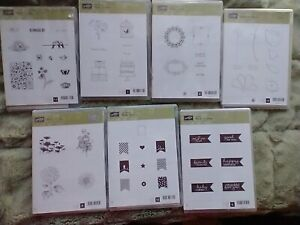 Lot of 7 Stampin' Up! Rubber Stamp Sets