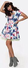 Vestido De Verano BNWOT Jameela Jamil Estampado Floral Corazón Cortado Tul Noche Ocasión 8