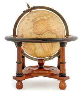 "16th C. Mercator Terrestrial Globe 11.8"" Wood Stand Nautical Old World Decor New"