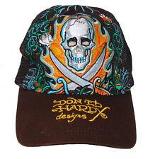"""Don Ed Hardy Christian Audigier Brown """"Love Kills Slowly"""" Mesh Trucker Hat"""