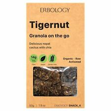 ERBOLOGY Organic Tigernut granola avec NOPAL CACTUS 50 g (Pack de 4)