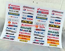 Scalextric Crash Barrier Advertising stickers Nascar & Bikes 104 for only £7.99