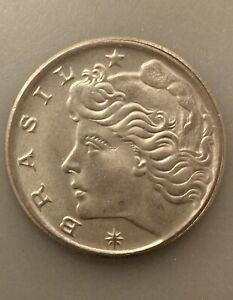 UNCIRCULATED 1970 20 CENTAVOS BRAZIL COIN KM#579.2