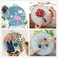 Embroidery Needlework Set DIY Cross Stitch Kits Sewing Supplies For Beginner