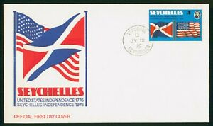 Mayfairstamps Seychelles FDC 1976 US Independence Amer Flag First Day Cover wwp_