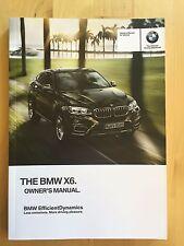 New BMW Owner's Manual X6 Series 35i, 50i X-Drive 2015-17