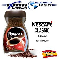 100% Pure Natural NESCAFE Classic Instant Coffee Dark Roast Beans Cup Jar 200 gm