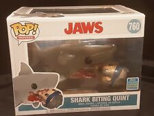 Funko Pop Movies 760 Jaws Shark Biting Quint 2019 SDCC Exclusive
