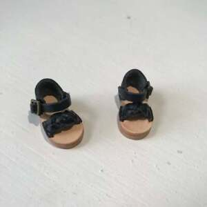 OB11 & Middie Blythe Black Leather Sandals