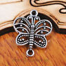 50 pieces 17mm Charms butterfly Pendant Connector Tibet Silver DIY Jewelry A7084