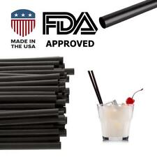 "250 Pcs Jumbo Black Drinking Cocktail Straws:Made in Usa ,Bpa Free(5.75""x0.24&#034 ;)"