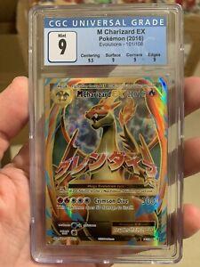 CGC 9 - MEGA M CHARIZARD EX FULL ART Holo Pokemon Evolutions 101/108 Mint