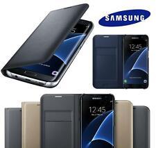 Piel de Calidad Tarjetero Funda Libro Cartera para Samsung Galaxy S8 S7 Edge