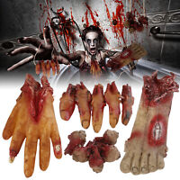 Halloween Decorations Scary Fake Fingers Eyeballs Hands Feet Horror Props + Rope