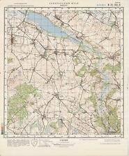 Russian Soviet Military Topographic Maps - BRZESKO (Poland), 1:50 000, ed.1981