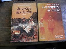2 de livres jacqueline briskin la croisée des destins , les sentiers de l'aube