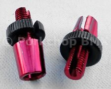 Dia-Compe M7 threaded bicycle brake lever barrel adjusters - PAIR - RED