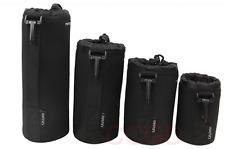 4pcs Neoprene DSLR Lens Soft Pouch Case Bag Size:S+M+L+XL for Canon Nikon Camera