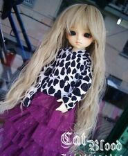 "6-7"" wig 1/6 BJD a little dollfie hair YO-SD flaxen long Curly AOD DK DZ DL DOD"
