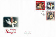 Tonga 2013 FDC Christmas 3v Set Cover Angels Art Vouet Jan Van Eyck Bondone
