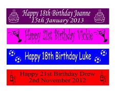 Personalised 16th 18th 21st Birthday Banners Banner 100mm x 1 metre
