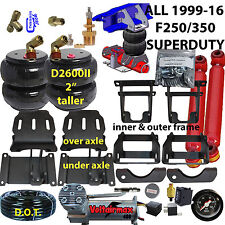 Rear Suspension Air Bag Towing Kit 1999-10 Ford F250/350 2wd/4wd Over Load kit