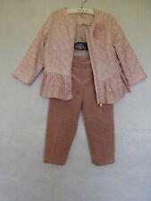 Set of 2 Dave & Bella Girl's Polka Dot Jacket & Pants Fleece Lined Sz 3T Toddler