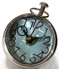 Brass Nikeeltable & Desk Clock Watch Vintage Clock Glass Table Clock Unique Gift