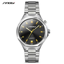 Gents Sinobi Black Face With Back Light Silver Stainless Steel Bracelet Watch