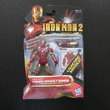 MARVEL AVENGERS IRONMAN 2  POWER ASSAULT ARMOUR ACTION FIGURE LAUNCHING MISSILE
