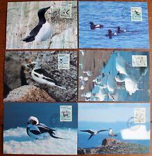 Greenland – 1980 Set of Birds on PHQs – All FDC – (Se9)