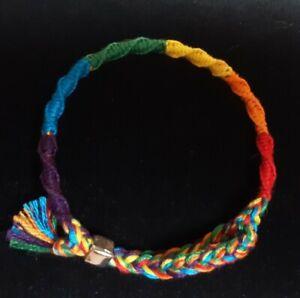 LGBTQ+ Rainbow Pride Adjustable Bracelet.