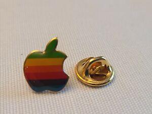 Apple Rainbow Computer  Logo Lapel Pin 1980's Made USA