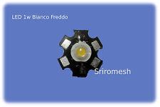 led 1w alta luminosita 120lm 1Watt , Bianco Freddo,con dissipatore 3v 350am6000k