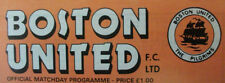 Boston United Football Non-League Fixture Programmes (1980s)