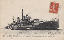 c1914 Rare French Navy Battleship COURBET Dreadnought Stamped Superb Postcard