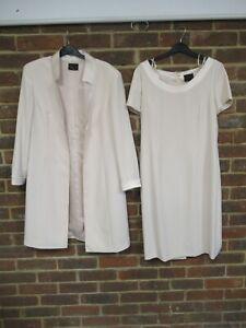 Frank Usher Ladies Light Pink 2-Piece Dress/Jacket Set Size: 14  1823