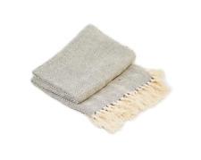 Cotton Como Throw Grey 100% Cotton 127 x 152cm - Cancer Research UK