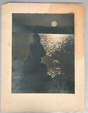 ES Busby Vintage Photograph - Morning Fishing Lake Tahoe - Gelatin Silver 1950's