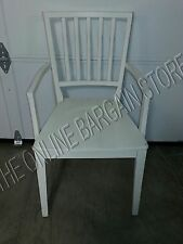 1 Pottery Barn PB Gustavian Dining Room Table Kitchen Armchair Wood Chairs Cream