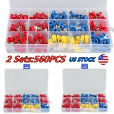 560pcs Assorted Insulated Spade Femalemale 10 22 Wire Connectors Terminal Kits