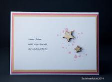 Glückwunschkarte zum Baby Karten Mädchen Geburtskarten Grußkarten Handarbeit 3D