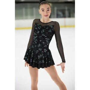 NEW MONDOR Fantasy on Ice Glitter Figure Skating Dress #671 Adult Small