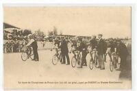 CPA SPORT , CYCLISME, DEPART DU CHAMPIONNAT DE FRANCE 1910