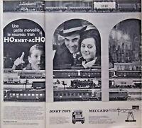 PUBLICITÉ DE PRESSE 1960 JOUETS TRAINS HORNBY-ACHO DINKY TOYS MECCANO
