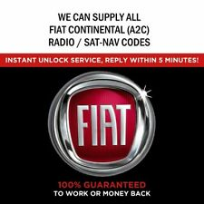 ALL FIAT A2C CONTINENTAL VP1 VP2 RADIO CODE DECODE UNLOCK DUCATO 500 500X PANDA