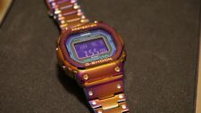 NEW Custom METAL G-SHOCK square GW-B5600BL-1ER (DW-5600 style) watch stainless💜