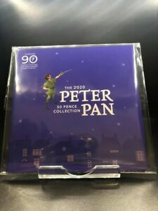 2020 Peter Pan Isle of Man 50p Fifty Pence Coin Set Sealed